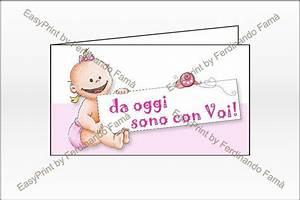 Bigliettino Bomboniere Nascita Femmina Bimba Con Cartello