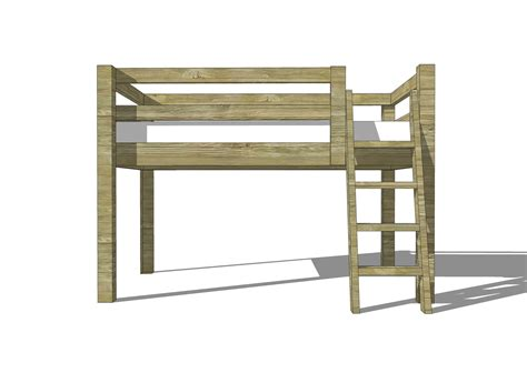 Low Loft Bed With Desk Plans by Free Woodworking Plans To Build A Low Loft Bunk Bed