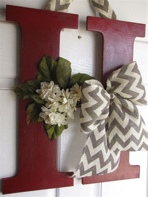 decorative letter decor  madewithloveforubyme  etsy