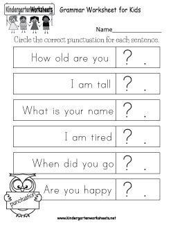 kindergarten english worksheets printable