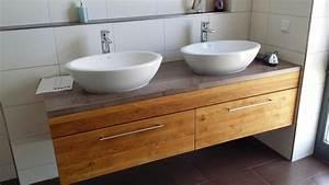Arbeitsplatte Mit Integriertem Waschbecken : waschtisch selber bauen arbeitsplatte ~ Michelbontemps.com Haus und Dekorationen