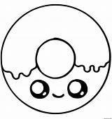Donut Coloring Unicorn Kawaii sketch template