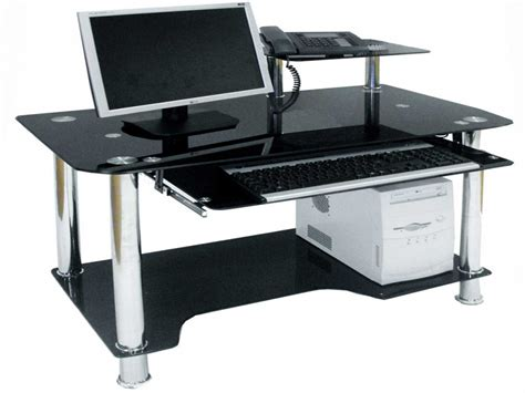 black glass computer desk office computer tables black glass computer desk black