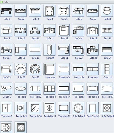 floor plans symbols symbols for floor plan sofa