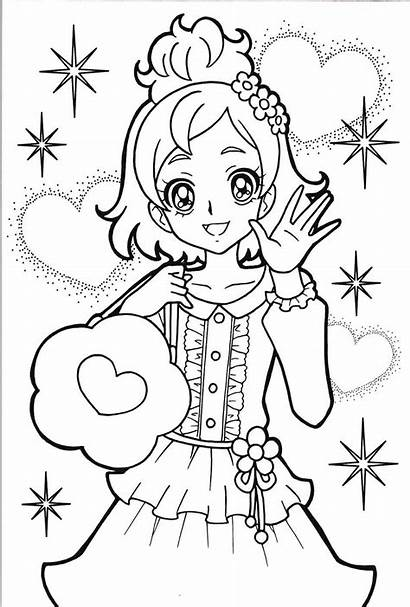Coloring Pages Precure Glitter Force Anime Princess