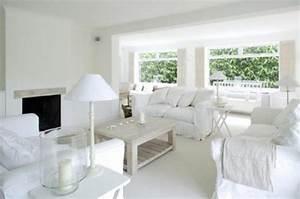 15 serene all white living room design ideas rilane for White on white living room decorating