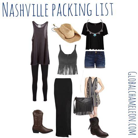 Nashville Packing List u2013 The Global Chameleon