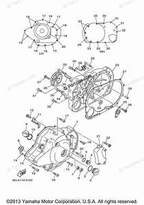 Yamaha Motorcycle 2004 Oem Parts Diagram For Crankcase Cover  1