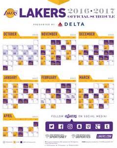 lakers printable schedule calendar template 2016