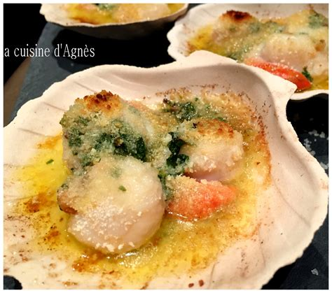 cuisiner coquilles jacques congelees lacuisinedagnes com coquilles jacques gratinees au fourla cuisine d 39 agnès