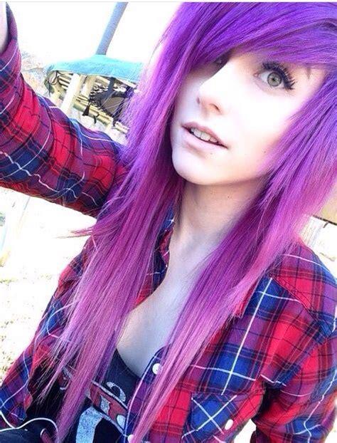 Emo Girl Purple Hair ️ Emo Girls Emo Hair Emo Scene