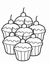 Cupcake Coloring Birthday Pages Toys sketch template