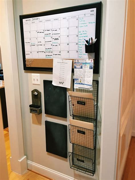 kitchen wall organization diy command center 3 organizing brilliance 3455