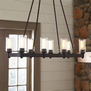 Rectangle Light Fixture birch lane gramercy 8 light rectangular chandelier birch