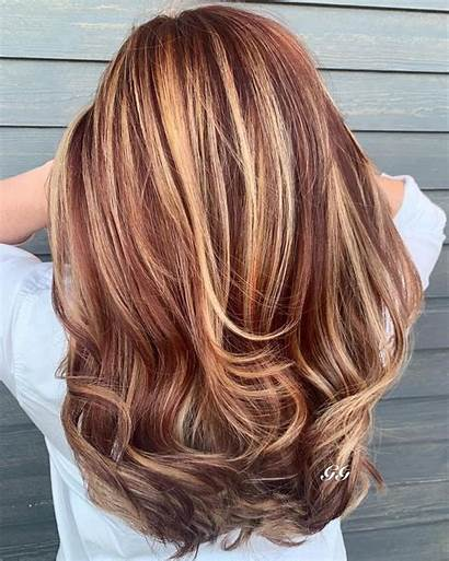 Auburn Highlights Blonde Dark Hairstyles Brown Inspire