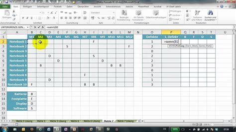 excel  matrix formeln teil  liste auswerten