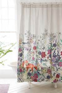 plum bow forest critters shower curtain outfitters