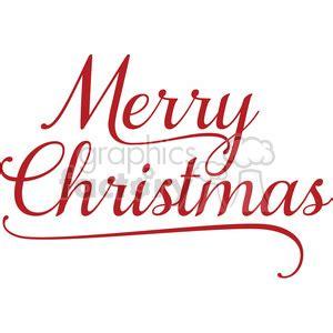 royalty  merry christmas word art  vector clip