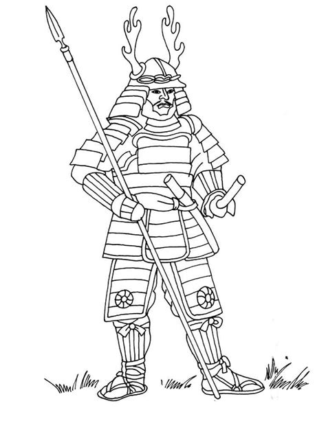 samurai coloring pages    print