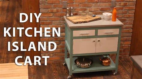 diy kitchen island cart   concrete top youtube