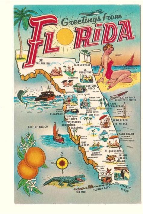 Standard Us Postcard Sizes Arts Arts Best 25 Vintage Florida Ideas On Map Of Fla