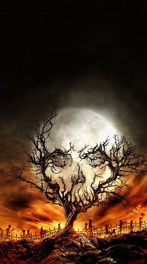 Digital Art Portrait Display Nature Trees Skull Moon