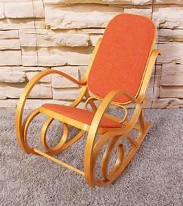 Rocking Chair Tissu : rocking chair fauteuil bascule m41 imitation ch ne tissu orange ~ Teatrodelosmanantiales.com Idées de Décoration