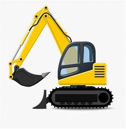 Excavator Construction Clipart Backhoe Clip Equipment Digger