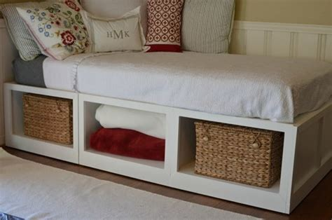 Diy Twin Bed Frame With Storage Twin Bed Storage …