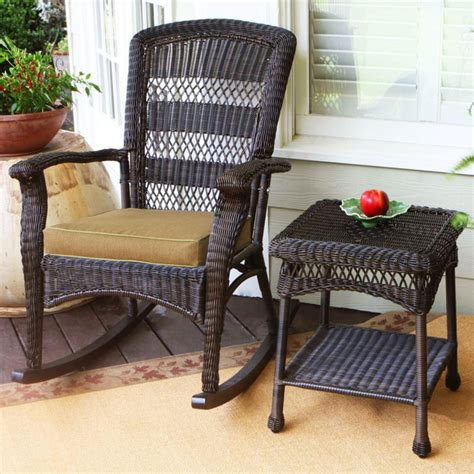 plantation roast wicker outdoor rocking chair
