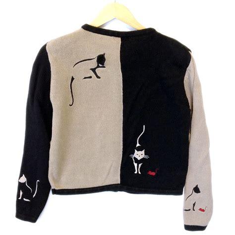cat sweaters black cat sweater the sweater