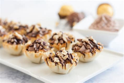 easy ferrero rocher cannoli cups goodie godmother a recipe and lifestyle
