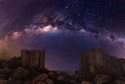 Galaxy Milky Way Stars Desert Night Rocks Stones Random