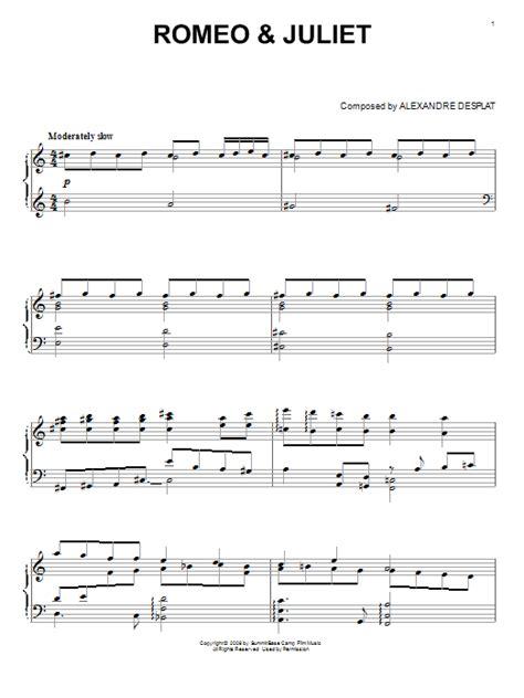chorus a f#m d e mungkin aku tak setampan romeo a f#m d e aku juga tak bergelimang harta. Romeo & Juliet sheet music by Alexandre Desplat (Piano ...