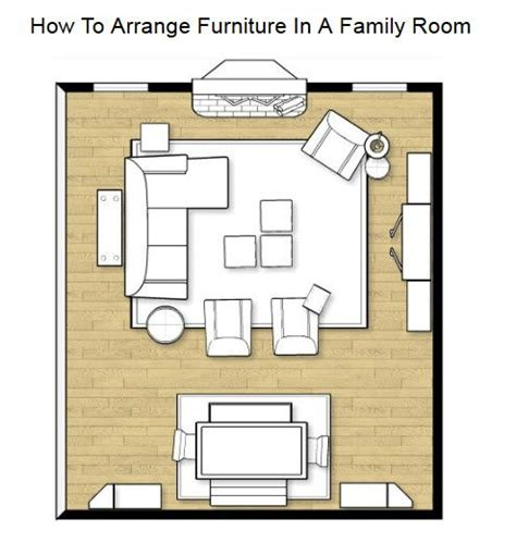 L Shaped Living Room Floor Plans by How To Arrange Furniture In A Family Room Living Room