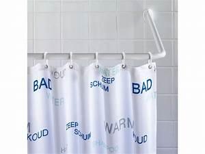Barre De Douche D Angle : barre d 39 angle pour rideau de douche universel coloris ~ Dailycaller-alerts.com Idées de Décoration