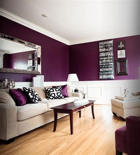 Interesting Living Room Paint Color Ideas  Plum Color