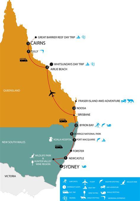 australia east coast tours