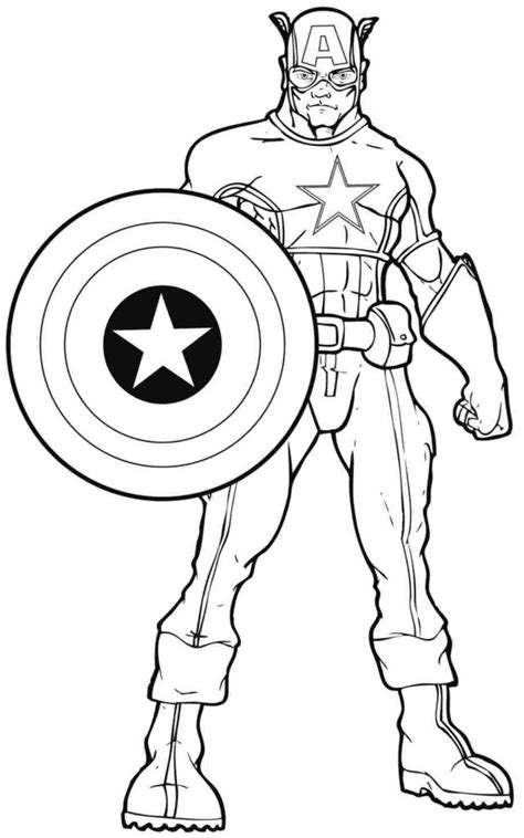 Coloring Pages: Free Printable Superhero Coloring Pages