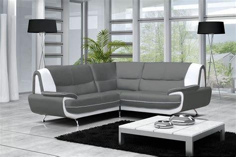 canap simili cuir gris canapé moderne simili cuir réversible gris noir