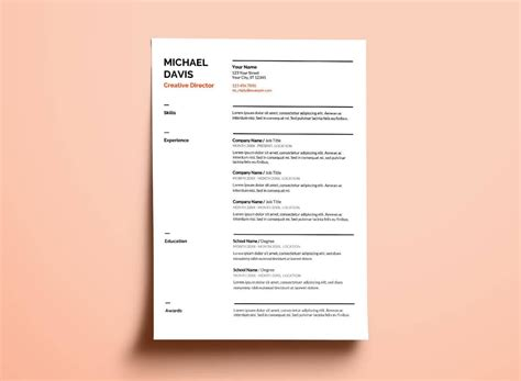 Standard Cv Format Doc - Database - Letter Templates