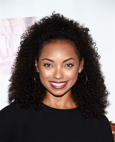 logan browning curly hair moments essence