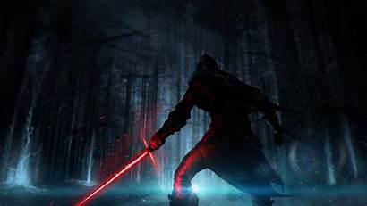 Wars Ren Kylo Sith Force Lightsaber Awakens