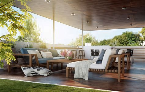 mission style wall outdoor lounge interior design ideas