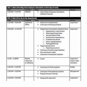 Simple employee training schedule template and sheet for Simple training plan template