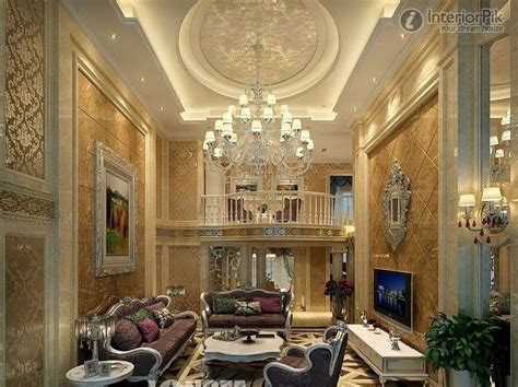Classic Ceiling Design by Luxury Modern Living Room With Stunning Ceiling Design