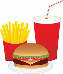 Hamburger Fries and a Drink - Free Clip Art