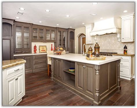 white stain kitchen cabinets white kitchen cabinets with stained wood trim home 1464