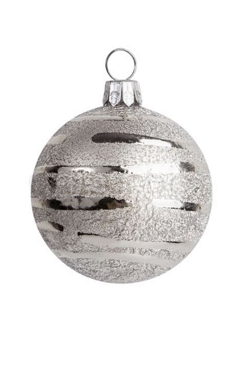 christmas decoration silver ball decorations stock