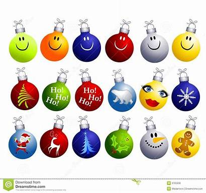 Christmas Clip Ornaments Clipart Decorations Assorted Festive